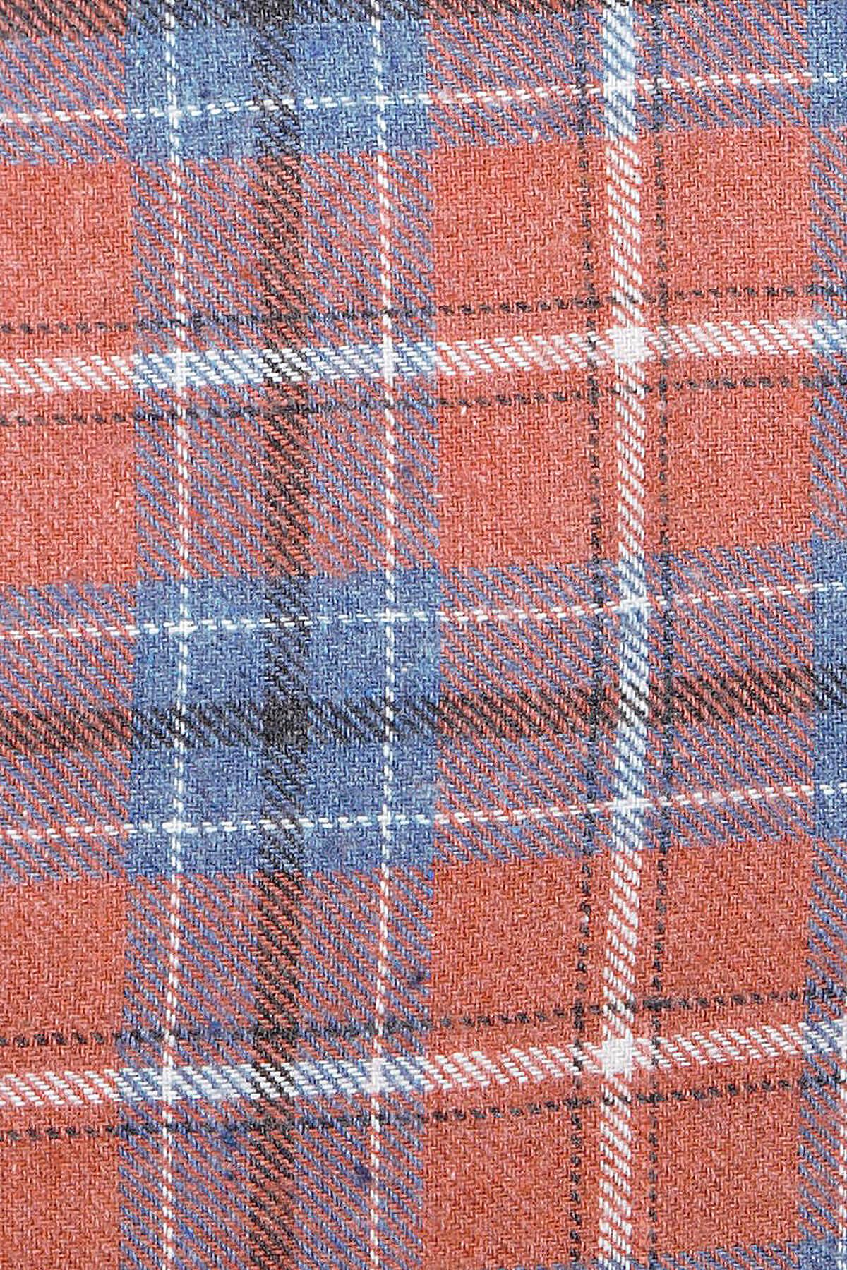 Turuncu Kareli Oduncu Gömlek