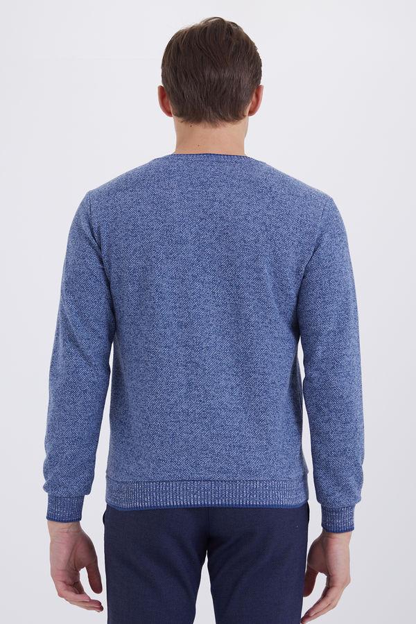 İndigo V Yaka Sweatshirt