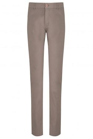 Vizon Desenli Slim Fit Pantolon - Thumbnail