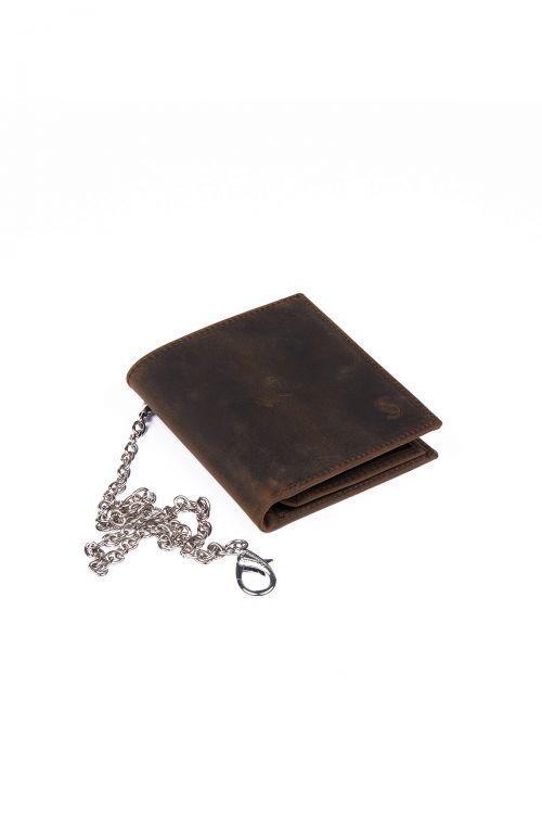 Vizon Zincirli Deri Cüzdan