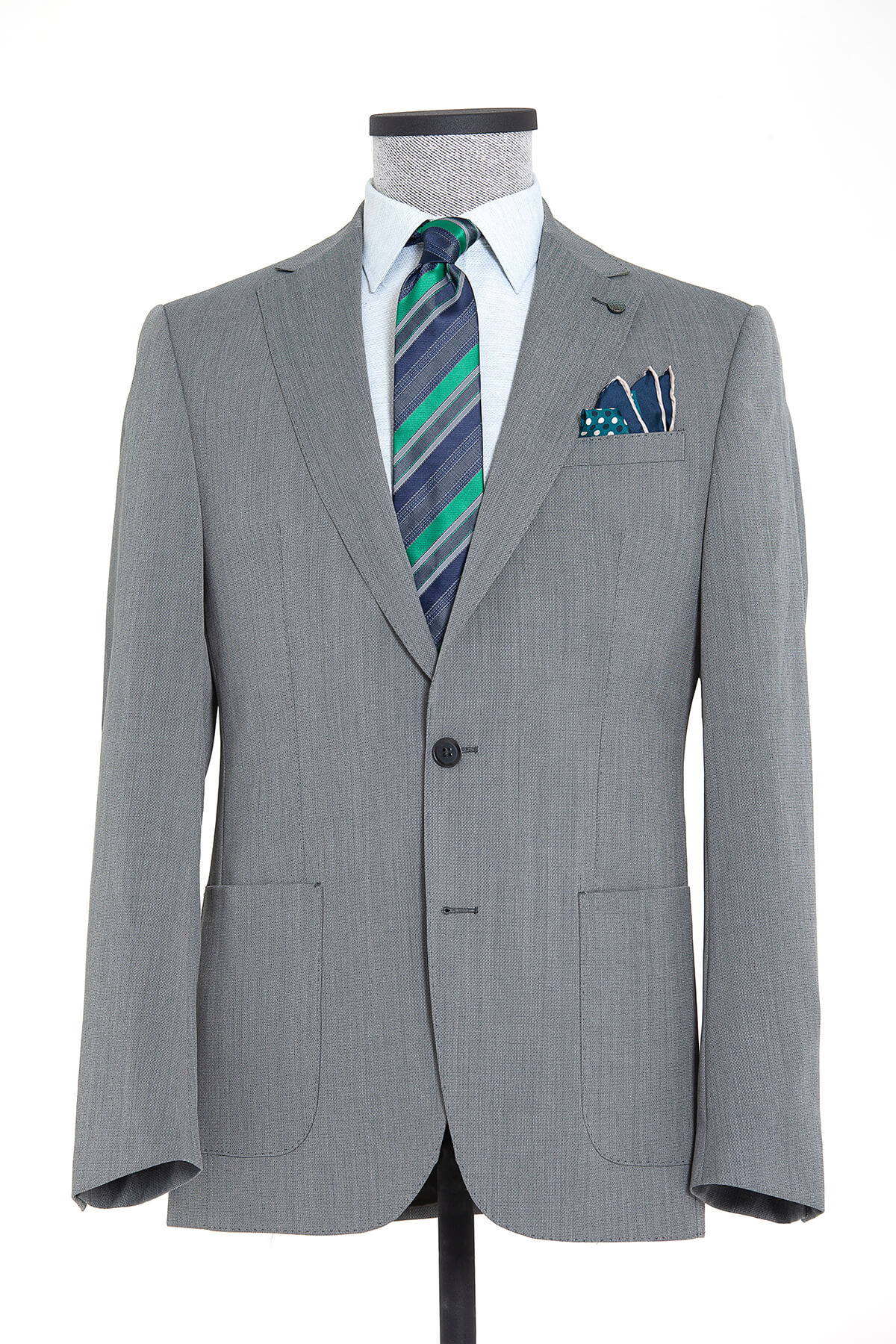 Yeşil Desenli Slim Fit Ceket
