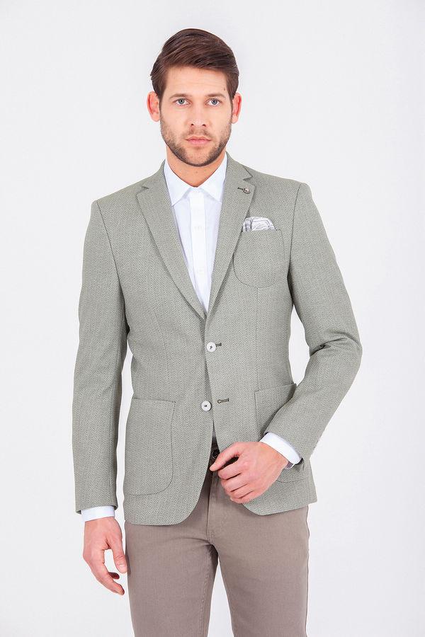 Yeşil Slim Fit Klasik Ceket