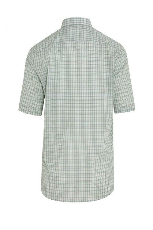 Yeşil Kareli Kısa Kol Klasik Gömlek
