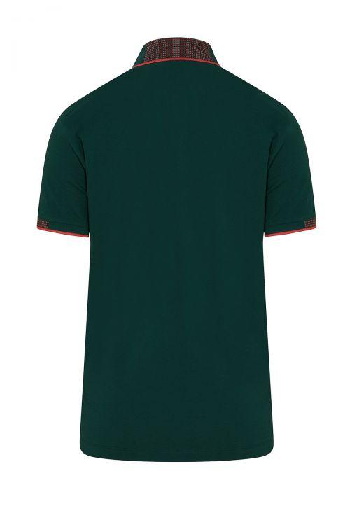 Yeşil Polo Yaka Regular Fit Tişört
